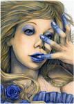 Blue Flower by SerenaVerdeArt