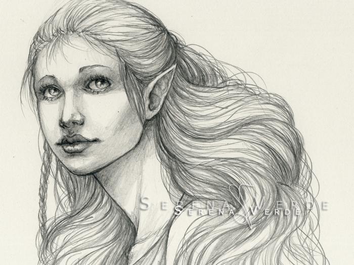 Elf portrait by SerenaVerdeArt