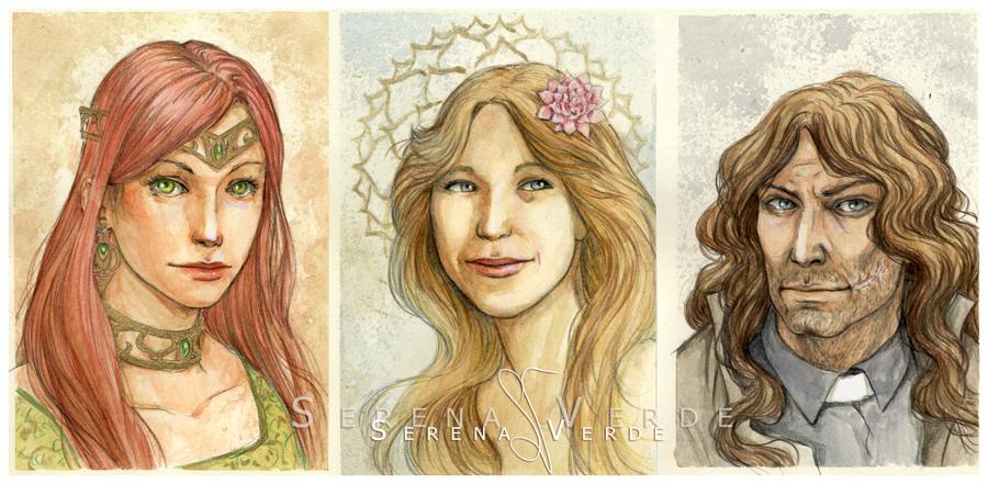 Watercolour portrait commissions: 1-2-18 by SerenaVerdeArt