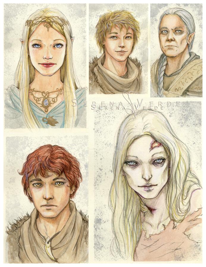 Watercolour portrait commissions: 3-7 by SerenaVerdeArt