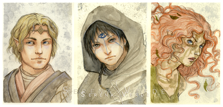 Watercolour portrait commissions: 8-10 by SerenaVerdeArt