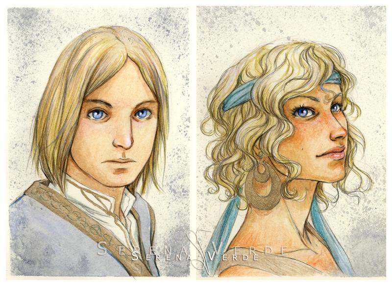 Watercolour portrait commissions: 16-17 by SerenaVerdeArt