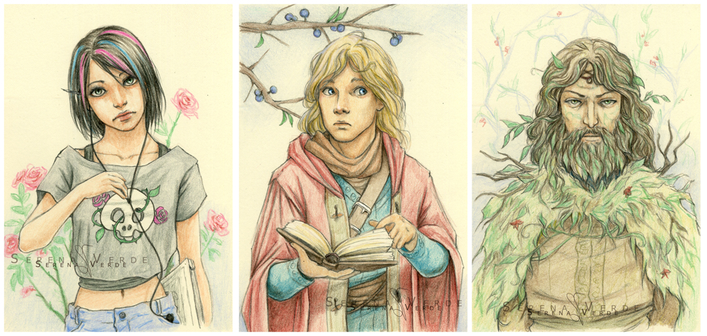 Commission: Oleander, Huon, The Green Man by SerenaVerdeArt