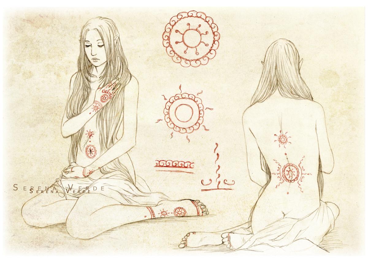 Istaaz - Tattoos chart by SerenaVerdeArt