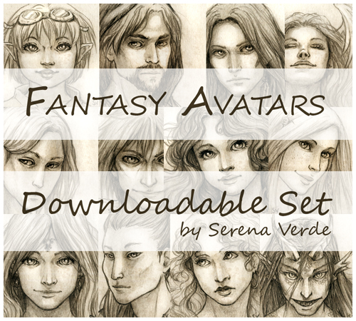 Fantasy Avatars - Downloadable set by SerenaVerdeArt