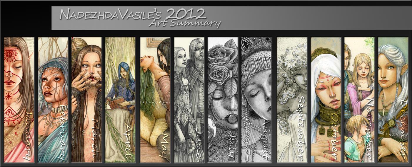 Nadezhda's 2012 Art Summary by SerenaVerdeArt