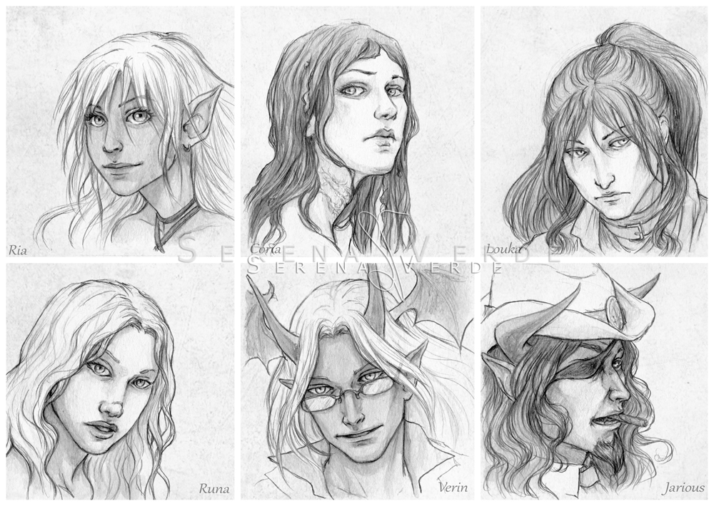 Portrait Commissions - first batch by SerenaVerdeArt