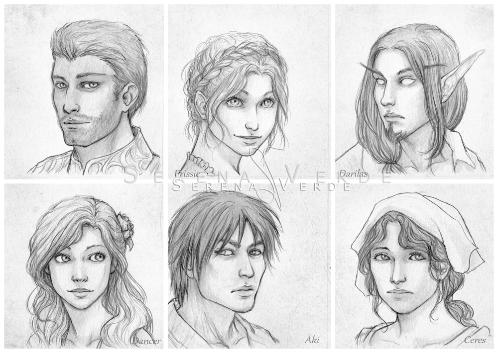 Portrait Commissions - second batch by SerenaVerdeArt