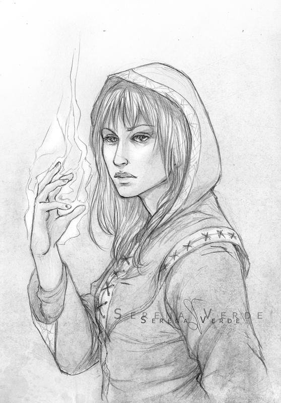Portrait Commission: Dyne by SerenaVerdeArt