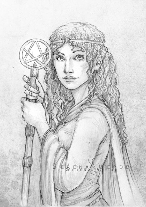 Portrait Commission: the Affallon Queen by SerenaVerdeArt