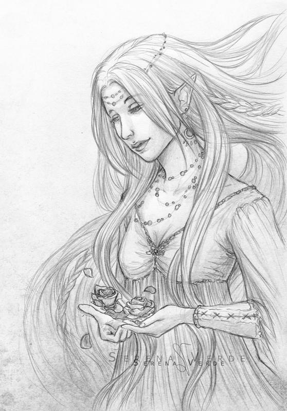 Portrait Commission: Eldaein by SerenaVerdeArt