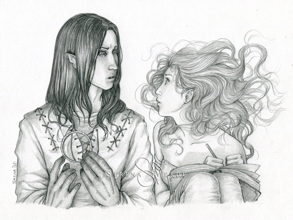 Commission: Rhistel and Neerepha by SerenaVerdeArt