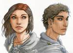 Watercolour Portrait Comm. - Piper and Kylas