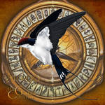 Phroo - my wire-tailed swallow daemon by HimmeltheBlue
