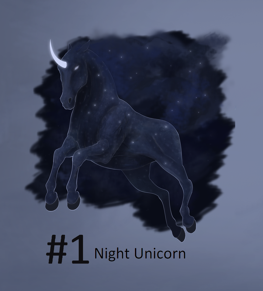 ADOPTS 1# Night Unicorn [OPEN] by HimmeltheBlue