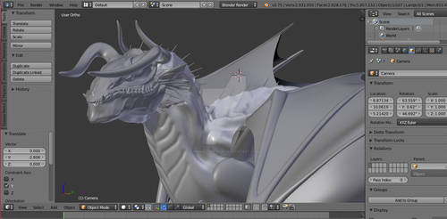 Dragon WIP Blender