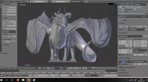 Dragon 3D sculpt (WIP)