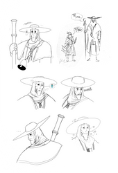 Bloodborne - Church Servant sketches