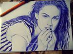 Megan Fox pen drawing