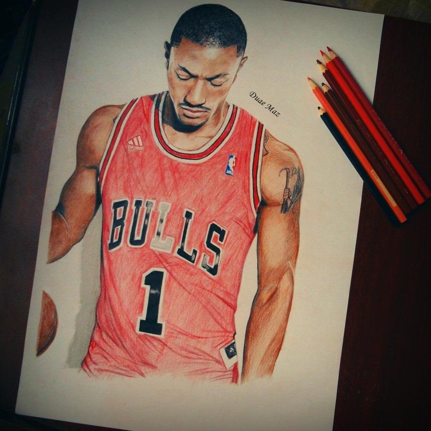 Derrick rose drawing