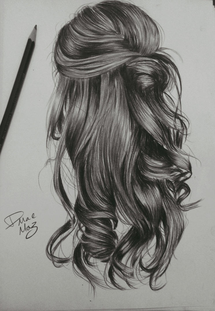 Hairstyle Drawings : kinda wavy hairstyle drawing by staceyElmoro on DeviantArt