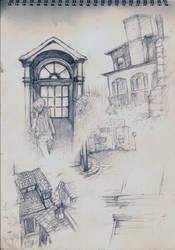 My Yellowsketchbook Sketches:3 by Shin-Bi