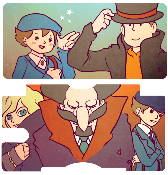 Professor Layton DS Covers - Art by TarasArt