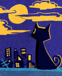 Black cat by cricketune