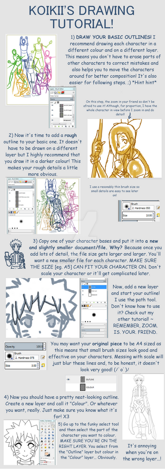 Anime Drawing Tutorial - Part 1 by Koikii