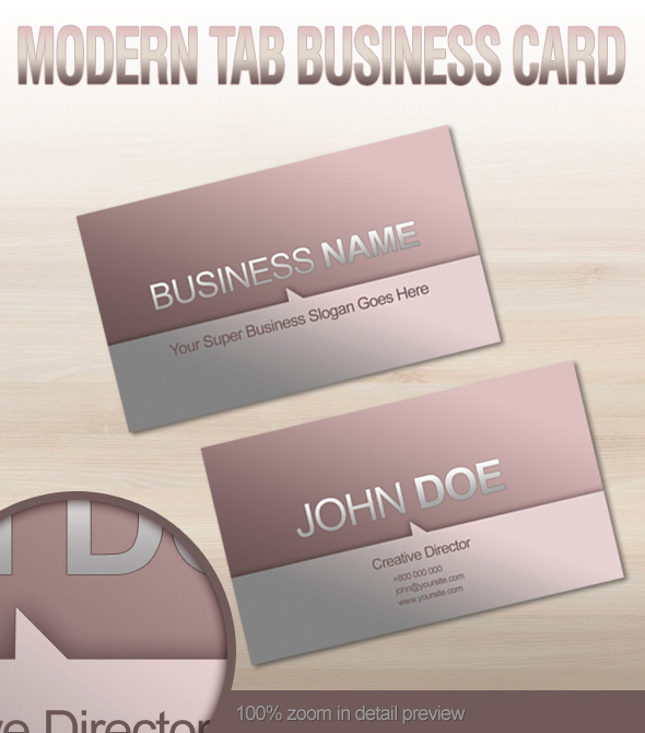 Modern Tab Business Card by graphex