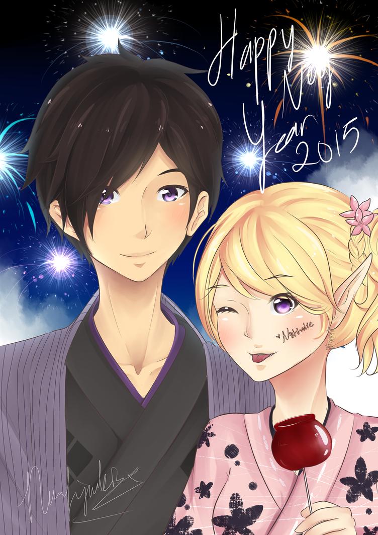 Happy new year 2015! by YuukiShijimoru