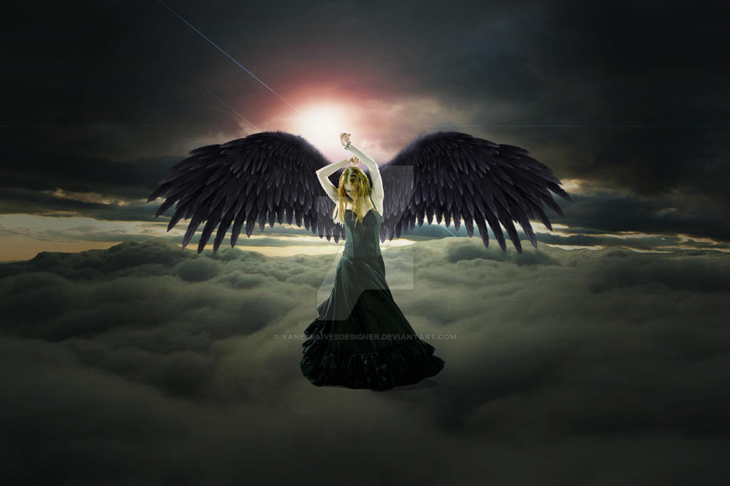 Black Angel by vanessaivesdesigner