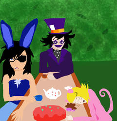 The Mad Hatters Tea Party by pinkcotton