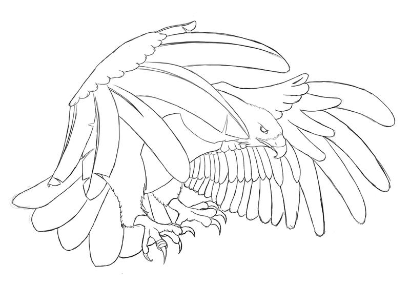 Eagle Tattoo Line Drawing : Eagle tattoo by paperori on deviantart
