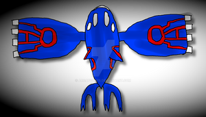 Kyogre Top View Drawing