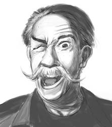Portrait of an old crazy man by duduOmag