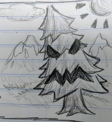 Angry Winter Tree (Doodle)