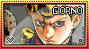 JJBA: Giorno Giovanna Stamp by whitenoize