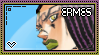 JJBA: Ermes Costello Stamp by whitenoize