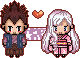 RK: Beshimi + Hikari Pixel Sprite Commission by whitenoize