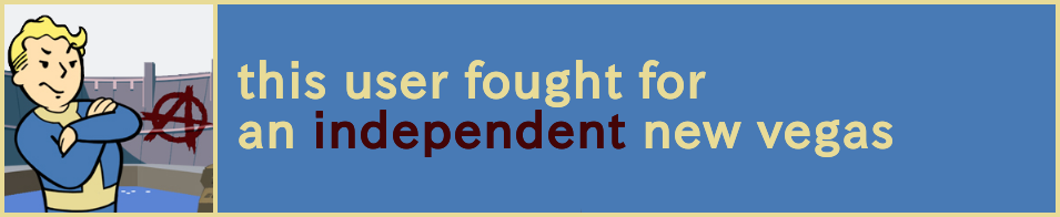 FONV: Independent New Vegas User Box by whitenoize