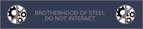 FO: BROTHERHOOD OF STEEL DO NOT INTERACT by whitenoize