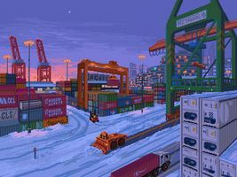 Container port by 5ldo0on