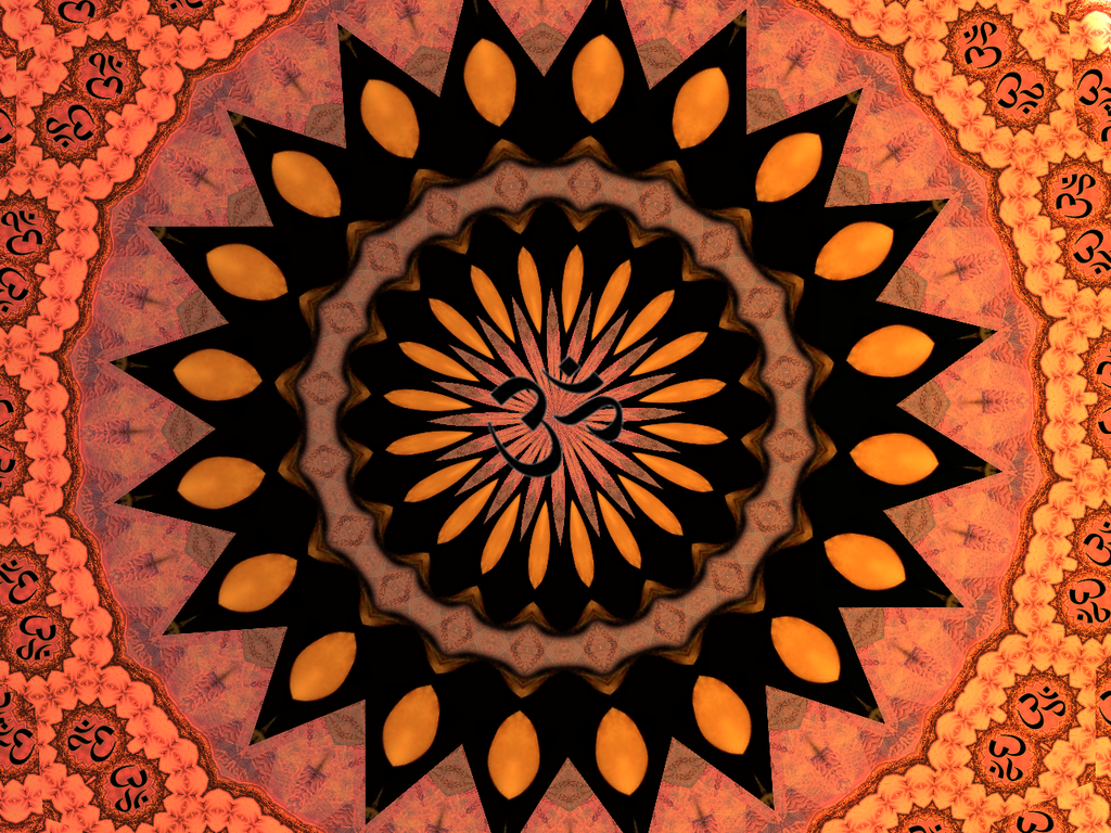 Om Symbol Red And Orange Chakra Background By
