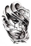 Commissioned Tattoo Sketch Chicano Style