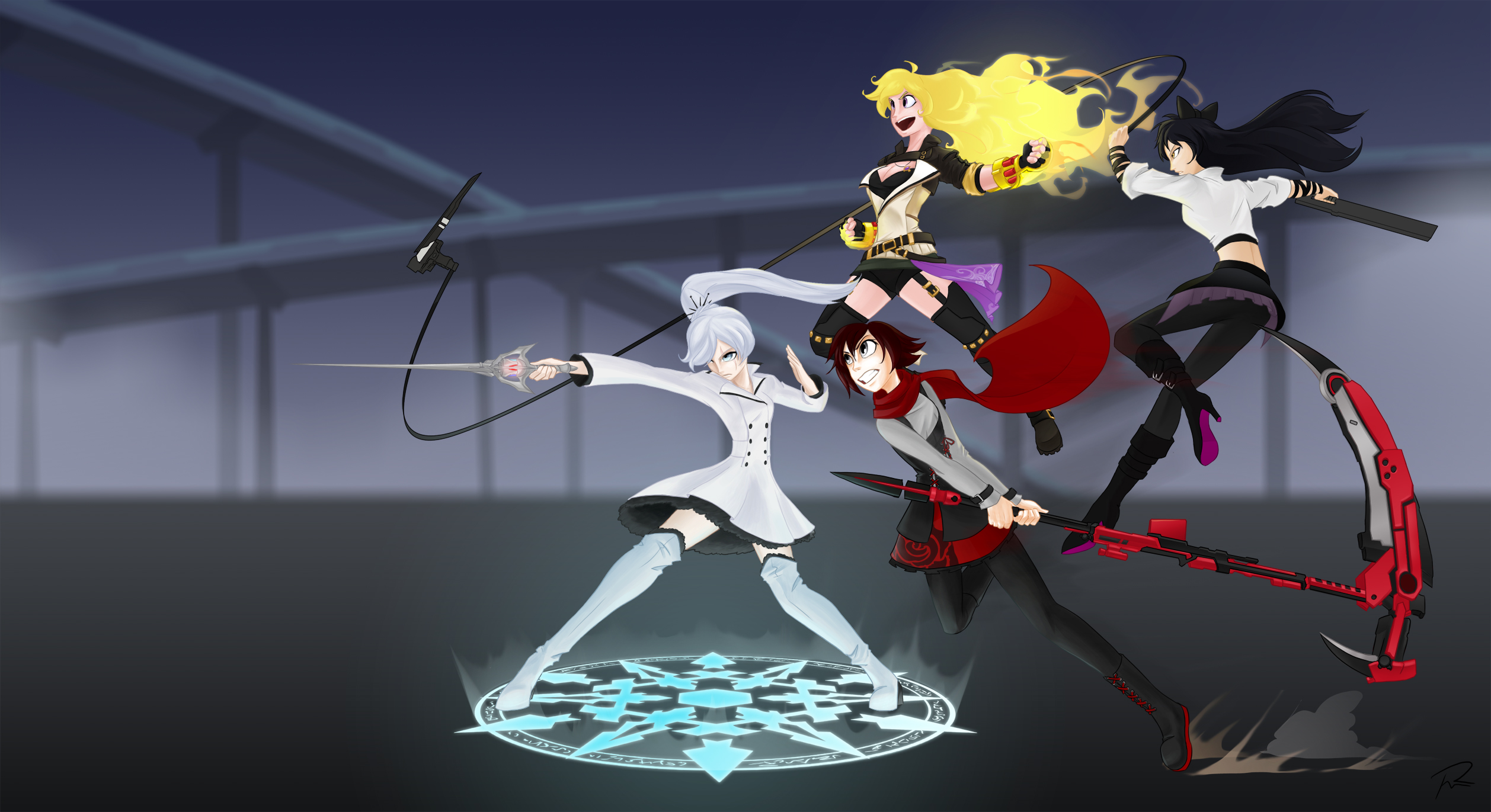 Alternate costume rwby charges forward by didj on cosplay rwby vol 4