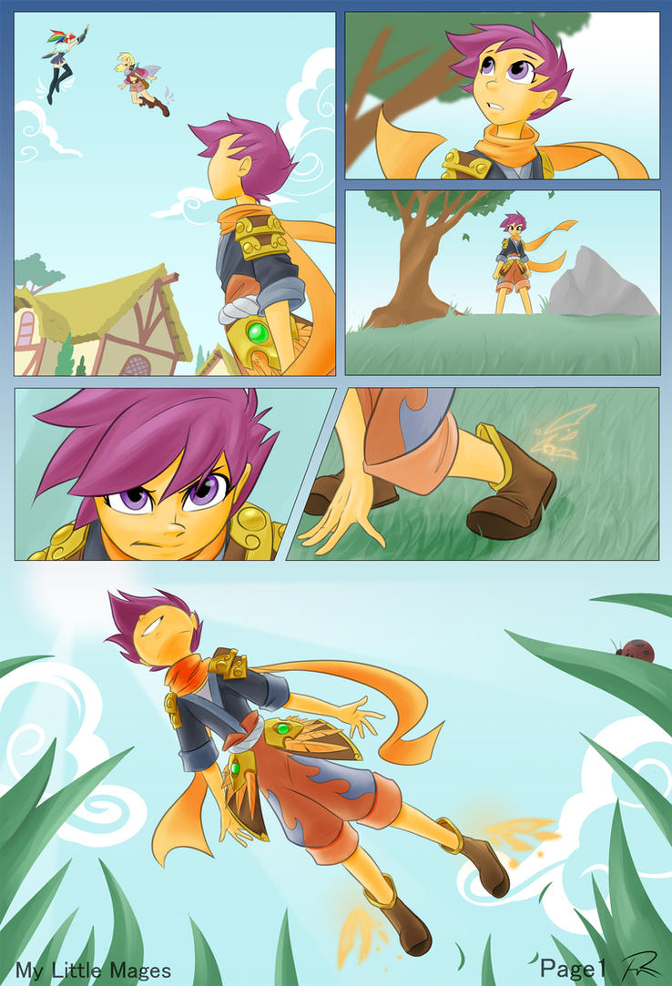 MLM Scootaloo comic- Page 1 by Didj