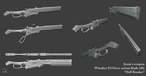 Jessie Weapon 3D WIP