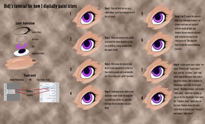 Tutorial for Digitally painting Irises
