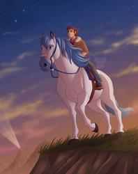 Starry Trail Ride + Speedpaint by Dartzu